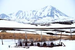 Scena dell'azienda agricola in neve Immagini Stock Libere da Diritti