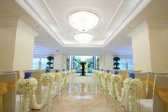 Scena dell'interno di nozze Immagine Stock Libera da Diritti