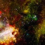 Scena dell'universo con i pianeti, le stelle e le galassie nello spazio cosmico immagini stock
