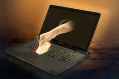Scena della carta di credito di furto Fotografia Stock