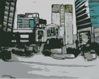 Scena della città Immagini Stock