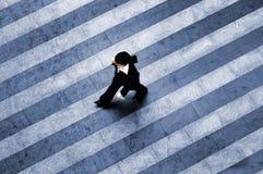 Scena della città del Crosswalk Fotografia Stock