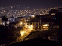 Scena della città di notte Fotografie Stock