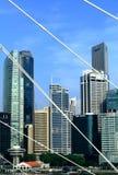 Scena della città di Singapore Fotografia Stock