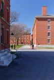 Scena della città universitaria di Harvard Immagini Stock Libere da Diritti