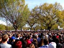 Scena della folla Fotografia Stock Libera da Diritti