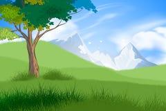 Scena della foresta e dell'albero Immagine Stock Libera da Diritti