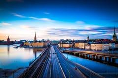 Scena della luce di mattina di Stoccolma, Svezia Immagini Stock Libere da Diritti