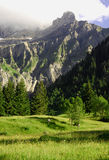 Scena della montagna, Adelboden, Svizzera Fotografia Stock