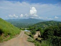 Scena della montagna nel Pakistan immagine stock