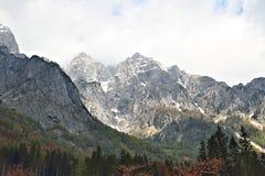 Scena della montagna nel parco nazionale di Triglav, Slovenia Fotografie Stock Libere da Diritti