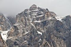 Scena della montagna nel parco nazionale di Triglav, Slovenia Fotografia Stock