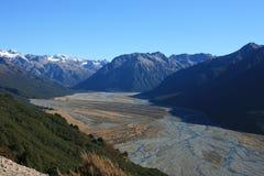 Scena della montagna, Nuova Zelanda fotografie stock libere da diritti