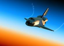 Scena della navetta spaziale Landing Fotografie Stock Libere da Diritti
