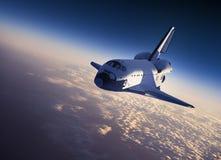 Scena della navetta spaziale Landing Fotografie Stock