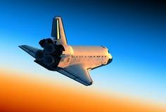 Scena della navetta spaziale Landing Fotografia Stock