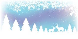 Scena della neve di natale Immagine Stock