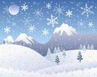 Scena della neve di natale Illustrazione di Stock