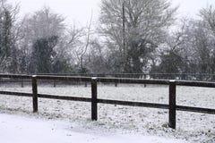 Scena della neve della Suffolk fotografia stock libera da diritti