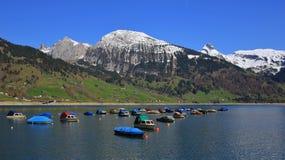 Scena della primavera nel lago Wagital Fotografia Stock