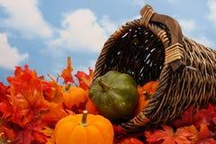 Scena della raccolta di autunno Immagine Stock