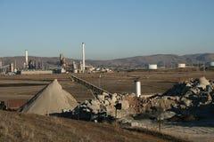 Scena della raffineria di petrolio Fotografie Stock