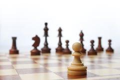Scena della scheda del gioco di scacchi Fotografie Stock Libere da Diritti