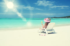 Scena della spiaggia Fotografie Stock