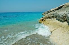 Scena della spiaggia in Albania Fotografia Stock