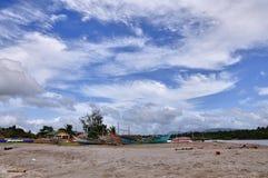 Scena della spiaggia delle Filippine Fotografia Stock Libera da Diritti
