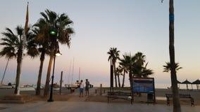 Scena della spiaggia di Costa del Sol Immagine Stock