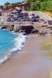 Scena della spiaggia di estate, Creta Fotografia Stock
