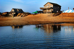 Scena della spiaggia di HDR Fotografia Stock