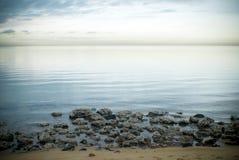 Scena della spiaggia di mattina Immagine Stock
