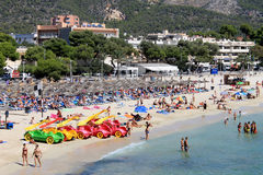 Scena della spiaggia di Palma Nova Fotografie Stock