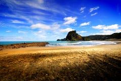 Scena della spiaggia di primo mattino Fotografia Stock