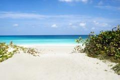 Scena della spiaggia di Varadero Fotografie Stock Libere da Diritti