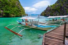 Scena della spiaggia nel coron, Filippine Immagini Stock Libere da Diritti