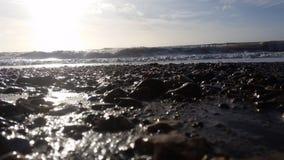 Scena della spiaggia nell'inverno Fotografie Stock