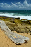 Scena della spiaggia a San Juan Immagini Stock Libere da Diritti