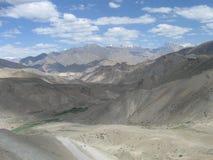 Scena della strada principale diLeh-Ladakh-Srinagar Fotografia Stock