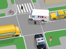 Scena della strada trasversale Fotografia Stock Libera da Diritti