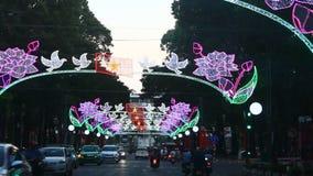 Scena della via in Asia archivi video