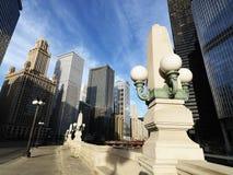 Scena della via in Chicago Fotografia Stock Libera da Diritti