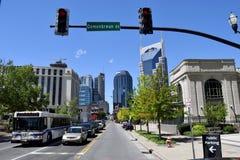 Scena della via della città di Nashville Immagine Stock Libera da Diritti