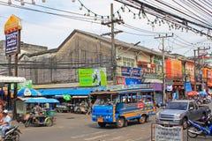 Scena della via, città di Phuket, Tailandia Immagini Stock Libere da Diritti