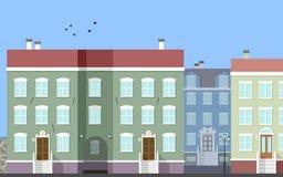 Scena della via della città [2] royalty illustrazione gratis