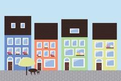 Scena della via della città Royalty Illustrazione gratis