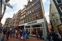 Scena della via della città di Amsterdam Fotografia Stock Libera da Diritti