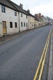 Scena della via della città di Winchcombe Fotografia Stock